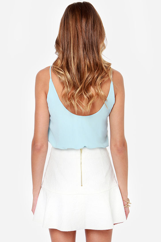 Spring Tease White Skirt at Lulus.com!