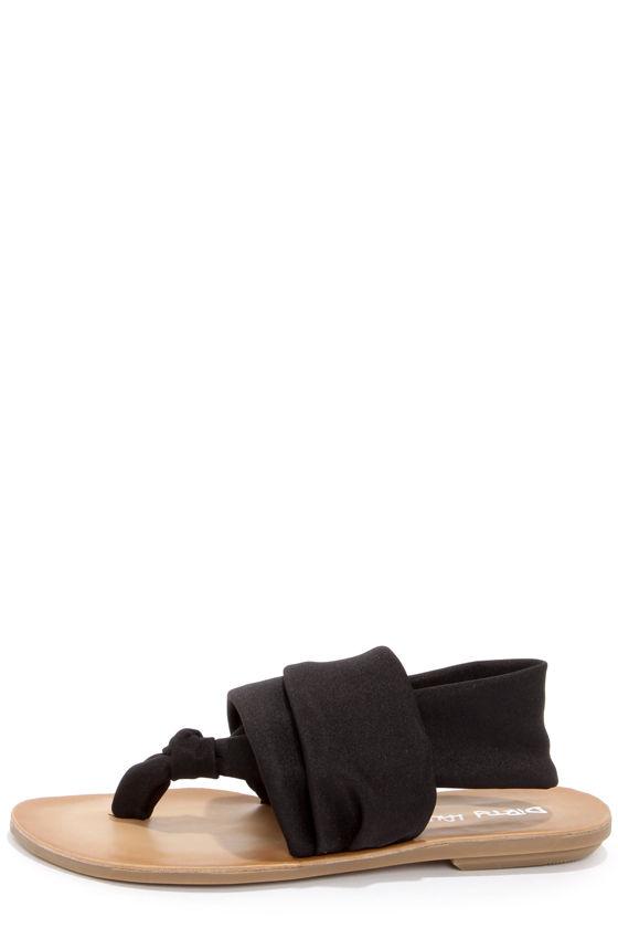 6ae9c1718e2 Boho Thong Sandals - Black Sandals - Fabric Sandals -  47.00