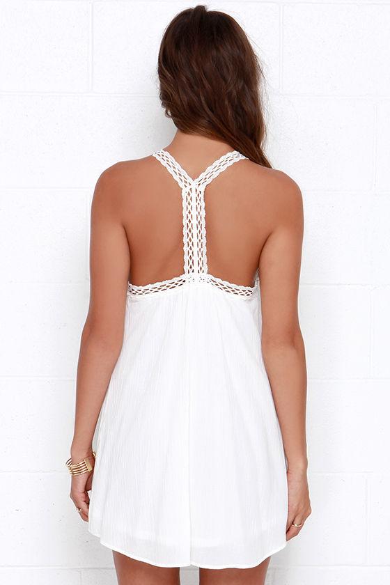 I'm Impressed Ivory Crochet Dress 4