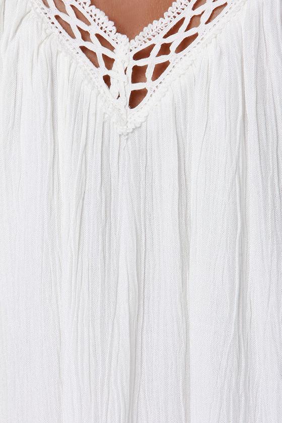 I'm Impressed Ivory Crochet Dress 6