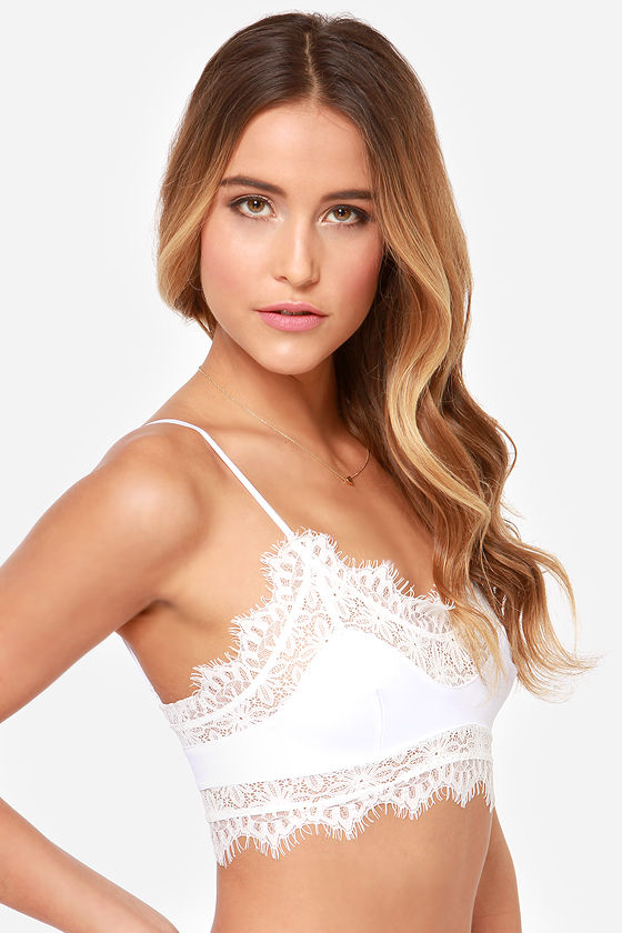 For Love & Lemons Sex Kitten White Bralette at Lulus.com!