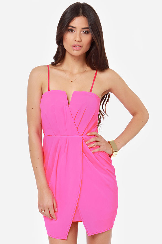 Cutie Pie Strapless Hot Pink Dress at Lulus.com!