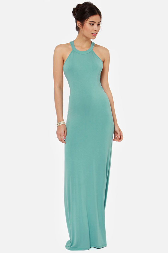 Strap and Gown Seafoam Maxi Dress at Lulus.com!