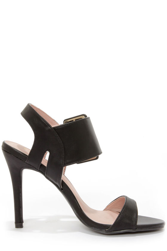 Shoe Republic LA Fabia Black Dress Sandals at Lulus.com!