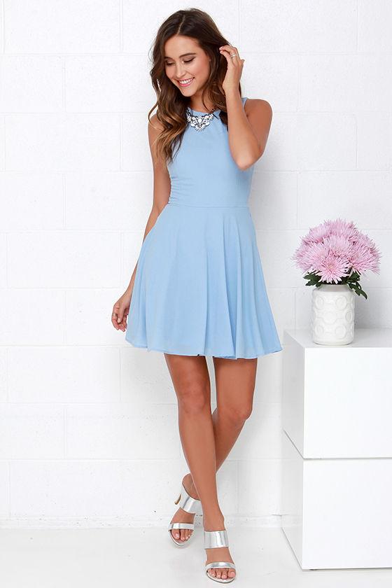 Light Blue Cheap Dresses