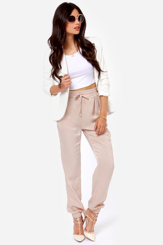 Stealthy Living Beige Harem Pants at Lulus.com!