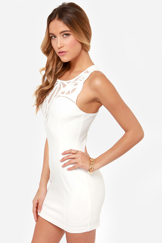 The Real Deluxe Ivory Dress at Lulus.com!