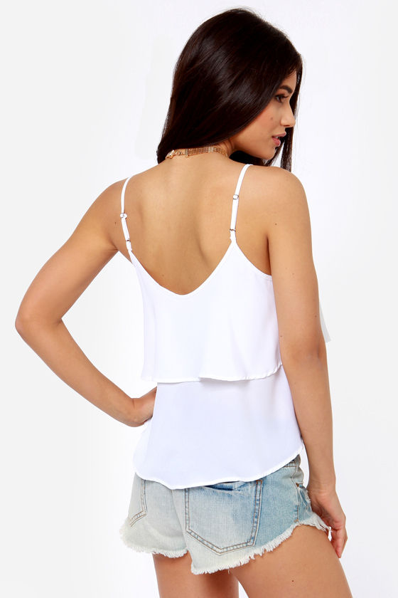 Lend Me Your Tiers Ivory Tank Top at Lulus.com!