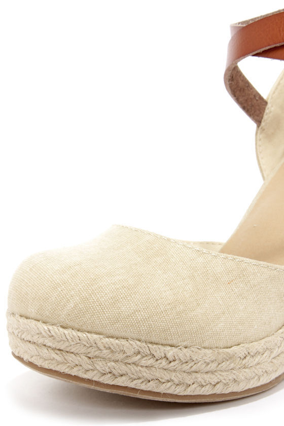 BC Footwear Rough and Tough Natural Espadrille Wedges at Lulus.com!