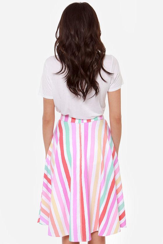 Fruit Stripes Fun Striped Midi Skirt at Lulus.com!