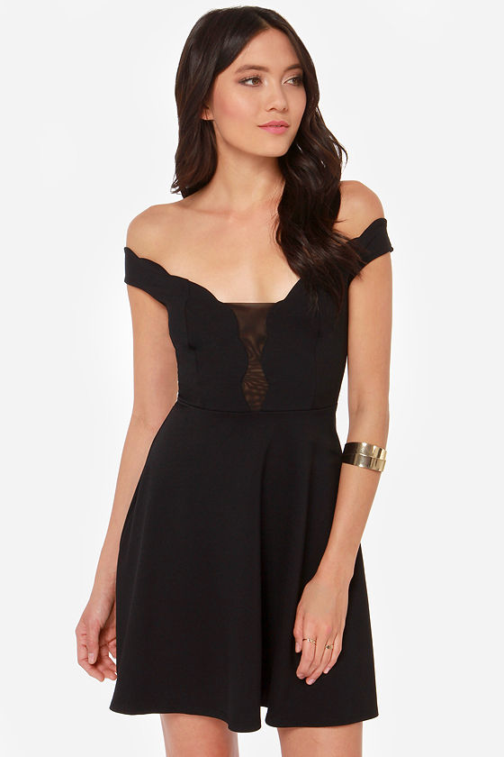 Squiggles and Giggles Black Dress at Lulus.com!