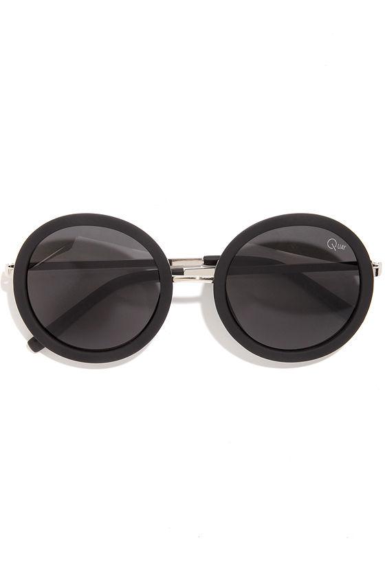 b89605ff72 Quay Bonny - Black Sunglasses - Round Sunglasses -  40.00