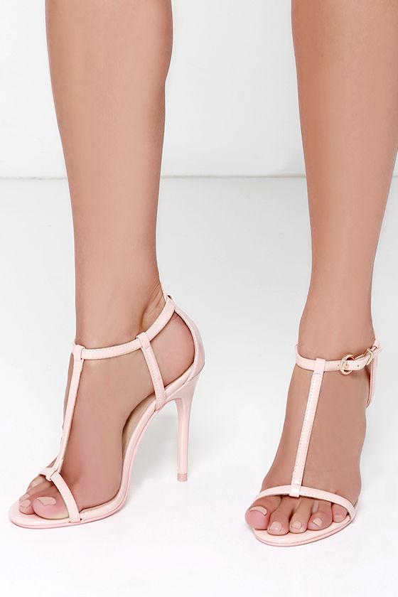 46cc346c8f47 Pretty Pink Heels - T Strap Heels - Dress Sandals -  69.00
