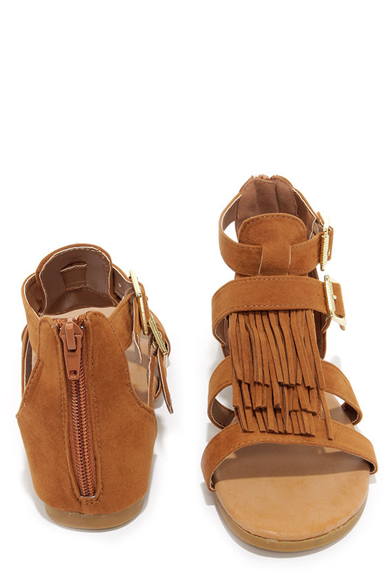 e9ab881b0 Cute Fringe Sandals - Boho Sandals - Tan Sandals -  26.00