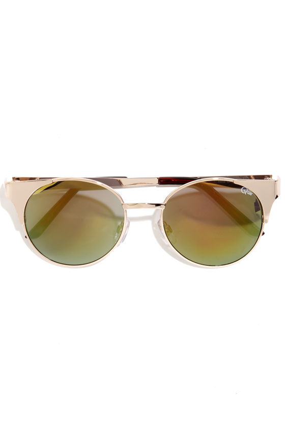 Quay Asha Gold Sunglasses at Lulus.com!