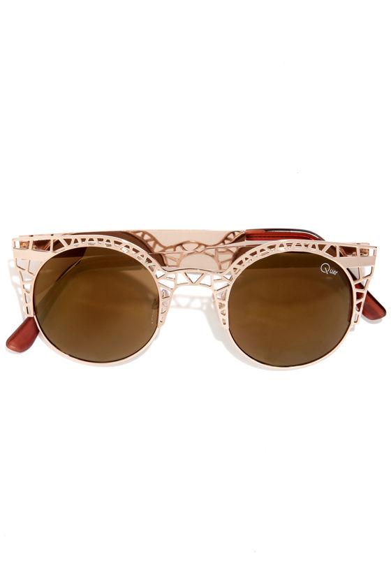 Sunglasses Cutout  quay fleur gold sunglasses cutout sunglasses 45 00