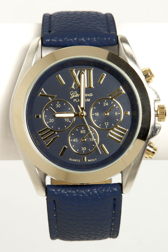 Watch It! Navy Blue Watch at Lulus.com!