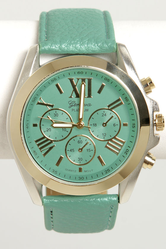 Watch It! Mint Green Watch at Lulus.com!