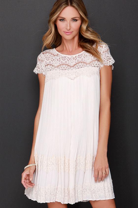 297c1917ef2e Darling Demi Dress - Beige Dress - Shift Dress - Lace Dress -  103.00