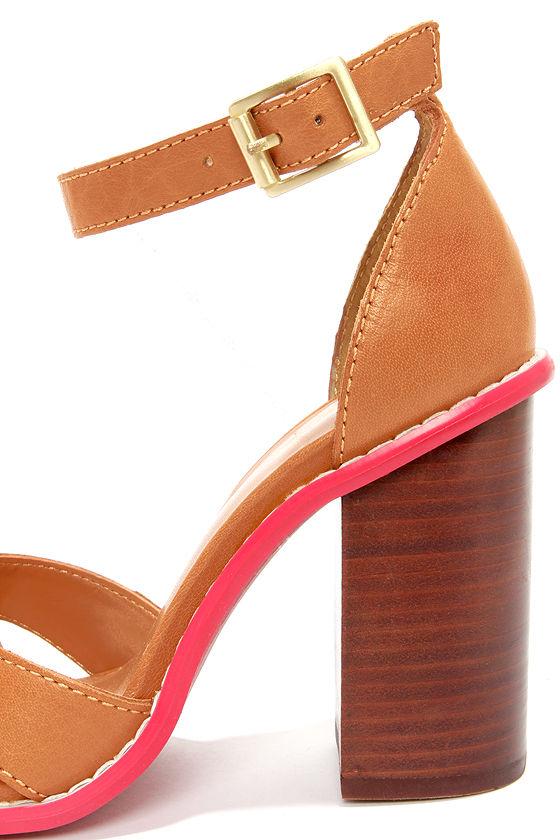 Kelsi Dagger Barcelona Cognac High Heel Sandals at Lulus.com!