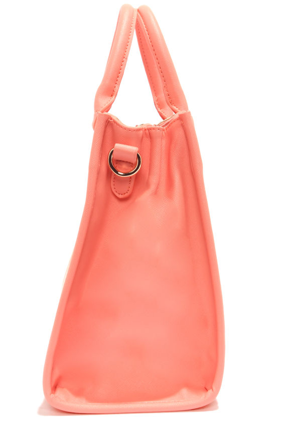 Brights Out Neon Coral Handbag at Lulus.com!