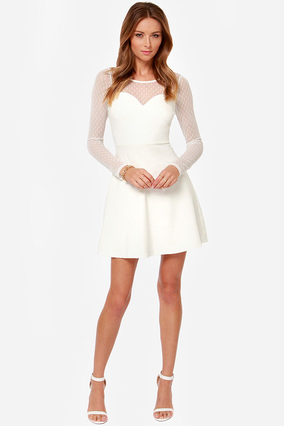 Allure the One Ivory Dress at Lulus.com!