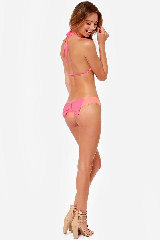 Lolli Winner Winner Neon Pink Bikini at Lulus.com!