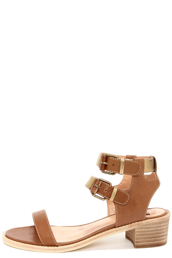 Dolce Vita Zinc Cognac Metallic Sandals at Lulus.com!