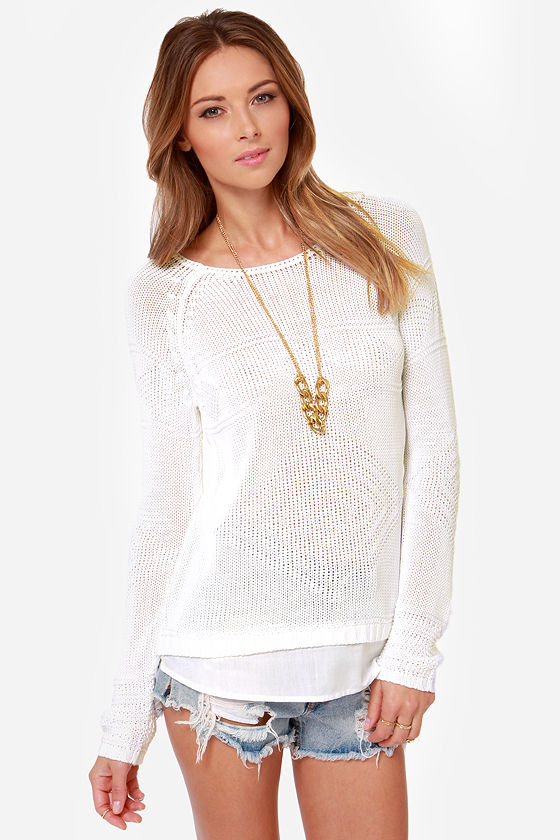 Dex Works for Me Ivory Sweater at Lulus.com!