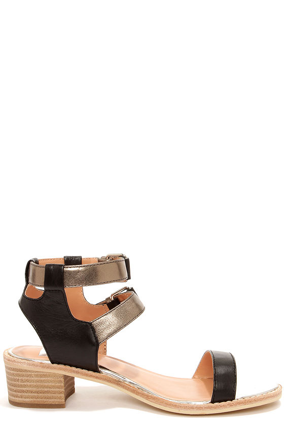 Dolce Vita Zinc Black Metallic Sandals at Lulus.com!