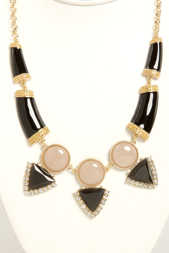 Gem and Us Black Rhinestone Necklace at Lulus.com!