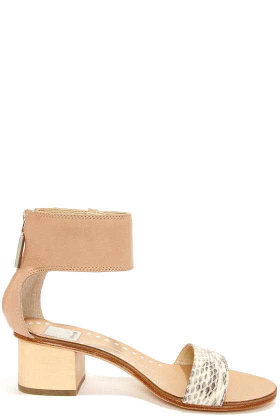 Dolce Vita Foxie Natural Snake Ankle Strap Leather Sandals at Lulus.com!