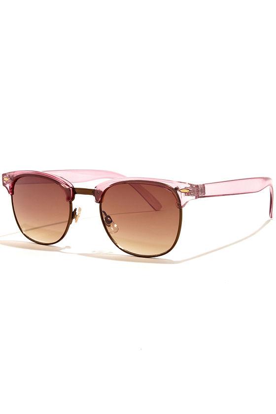 Soho Pink Sunglasses at Lulus.com!