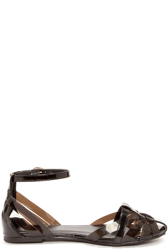 Wanted Malibu Black Patent Strappy Sandals at Lulus.com!