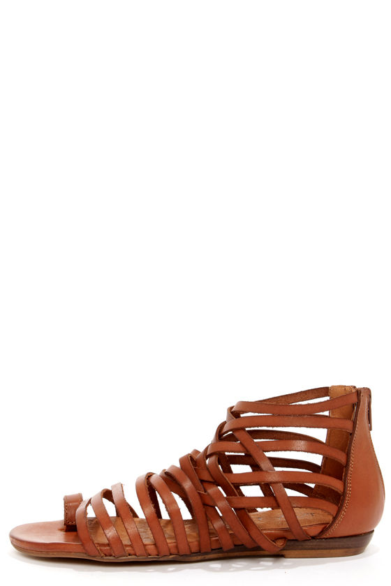 Sixtyseven 75961 Ashley Vachetta Brandy Gladiator Sandals at Lulus.com!