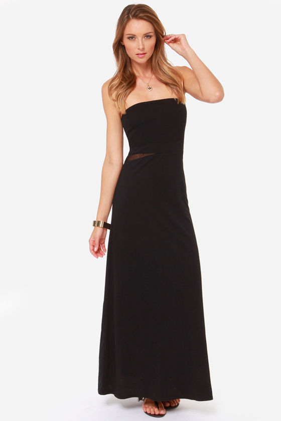 Hurley Tomboy Strapless Black Maxi Dress at Lulus.com!