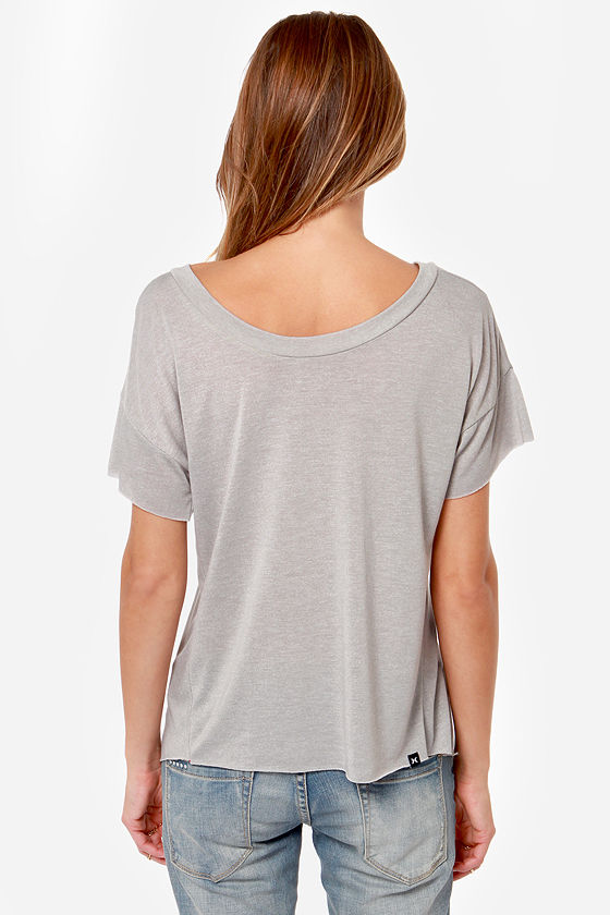 Hurley Nfinitee Reversible Grey Tee at Lulus.com!