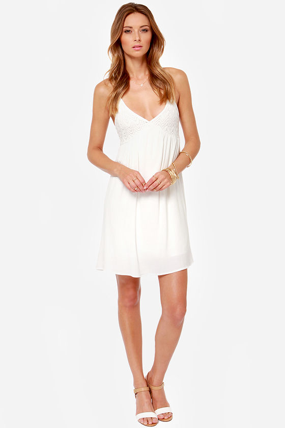 Just Another Daydream Ivory Lace Dress at Lulus.com!