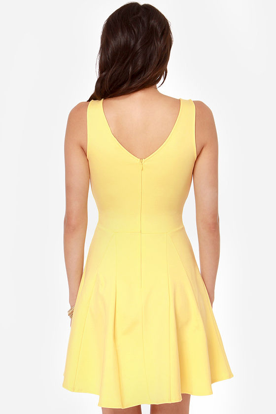 LULUS Exclusive Merengue Moment Yellow Dress at Lulus.com!