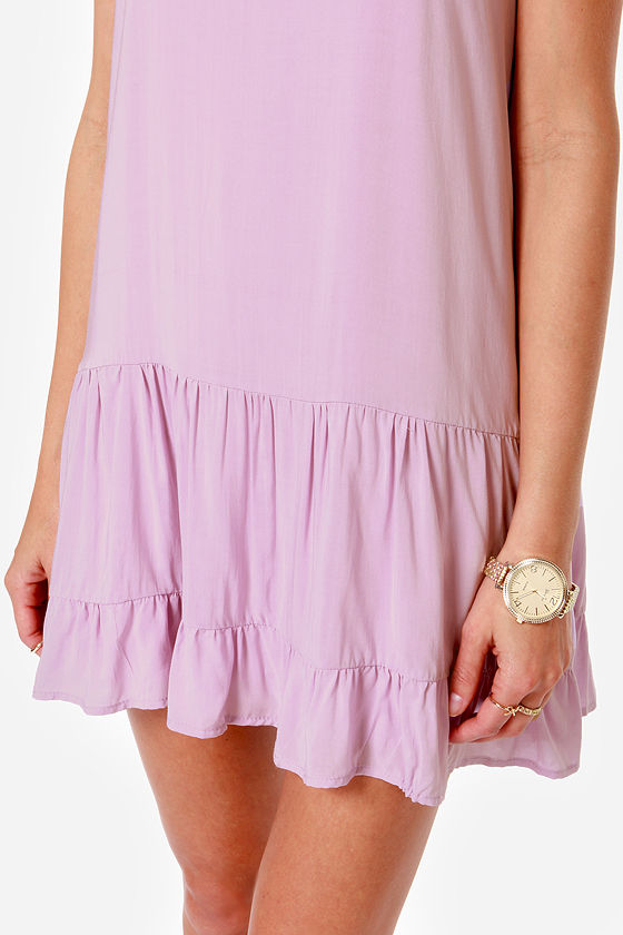Did I Flutter? Lavender Babydoll Dress at Lulus.com!