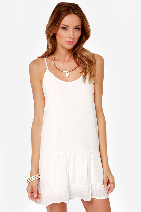 Did I Flutter? Ivory Babydoll Dress at Lulus.com!