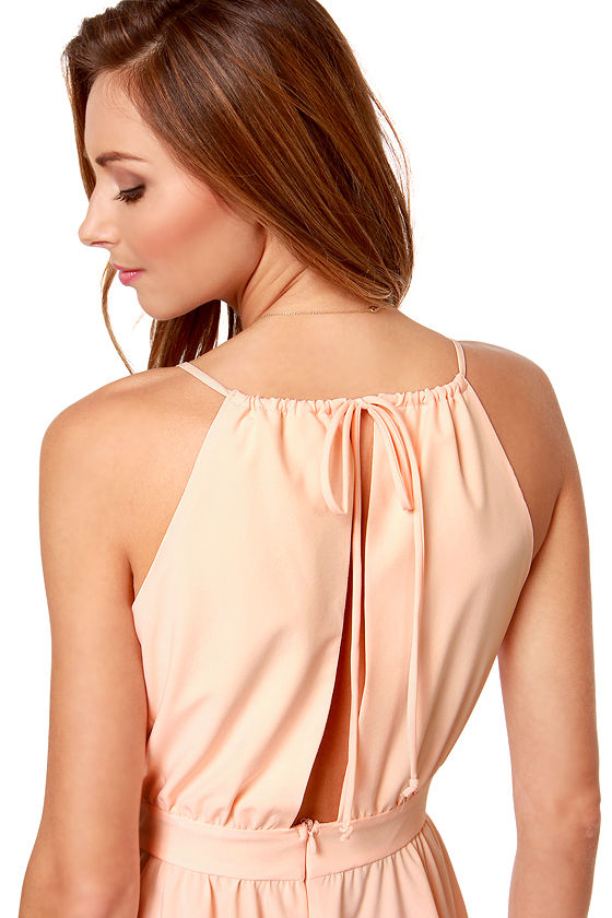 Lucy Love Penelope Light Peach Dress at Lulus.com!