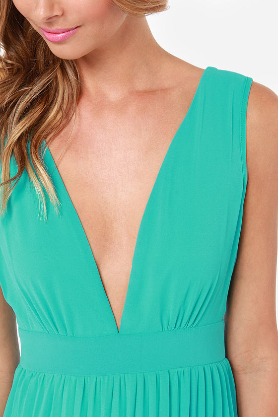 LULUS Exclusive Ciao, Ciao Bella Aqua Maxi Dress at Lulus.com!