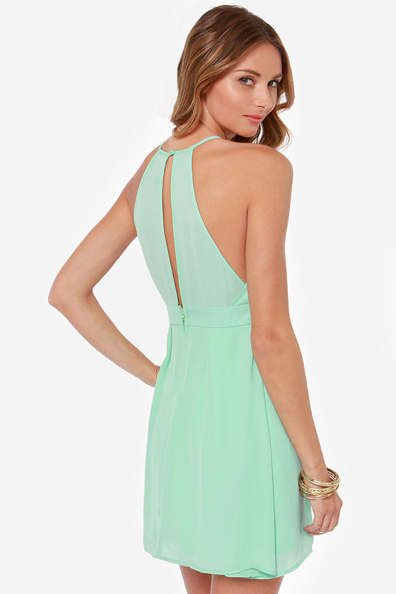 LULUS Exclusive Lacy Lass Mint Dress at Lulus.com!