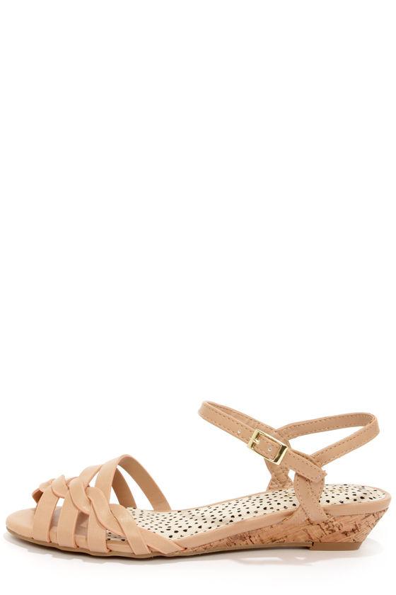 eef0568c7c75 Adorable Beige Sandals - Strappy Sandals - Peep Toe Sandals -  23.00