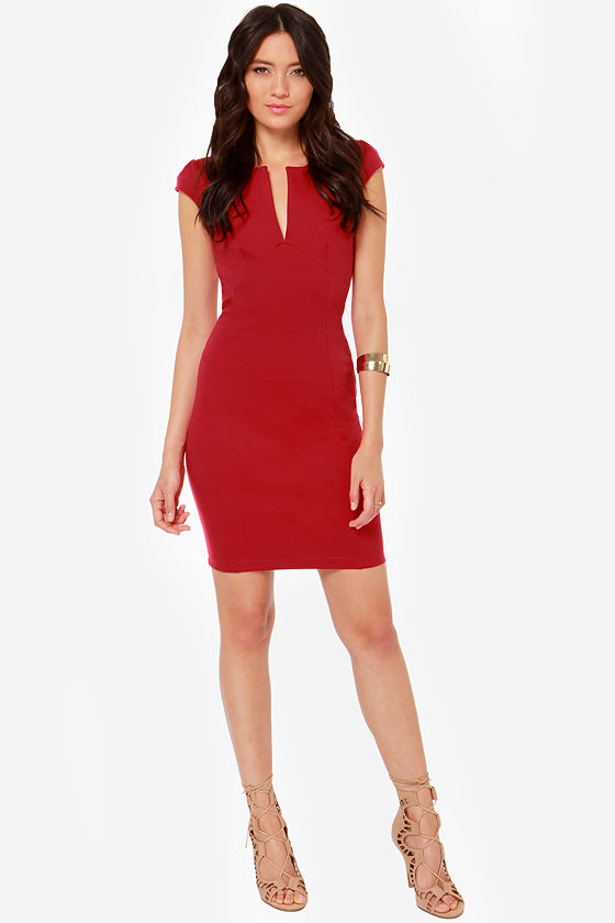 LULUS Exclusive Top Notch Red Midi Dress at Lulus.com!
