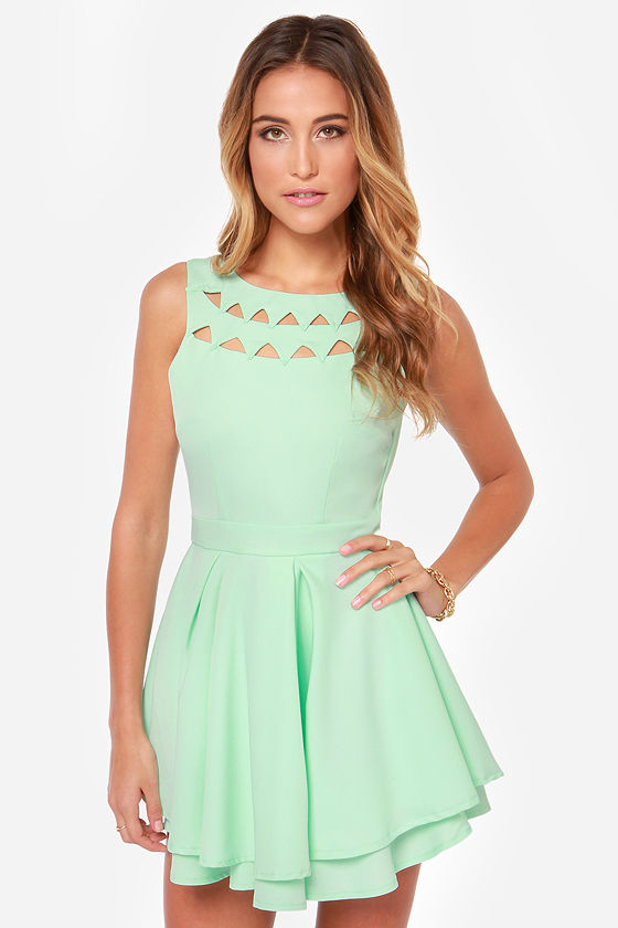 Sexy Mint Dress - Backless Dress - Skater Dress - Mint Green Dress ...