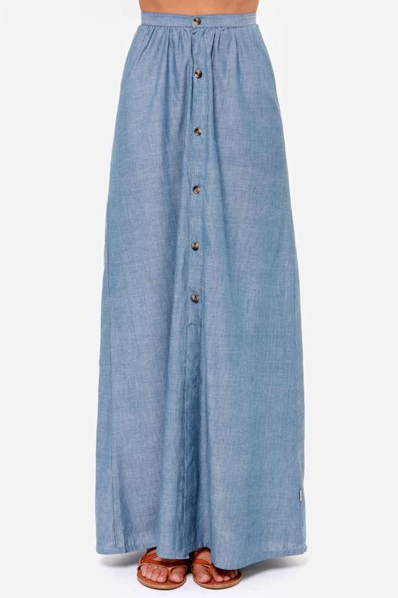 maxi skirt denim chambray maxi skirt 54 00