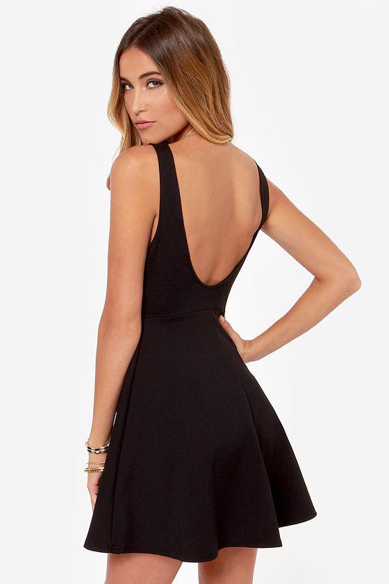 f1cd3e4e8cc Sexy Black Dress - Little Black Dress - Skater Dress - Scoop Back -  36.00