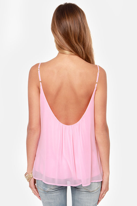 LULUS Exclusive Bel Air Baby Pink Tank Top at Lulus.com!